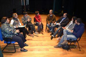 Membros da comissão organizadora, reunidos com Rosangela Camolese - foto Rodrigo Alves