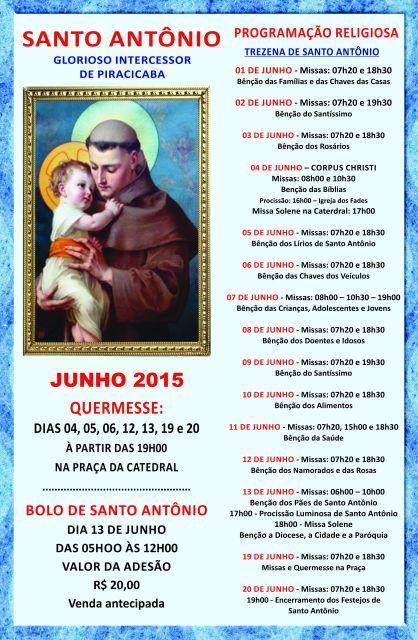 Cartaz Catedral Santo Antonio 2015