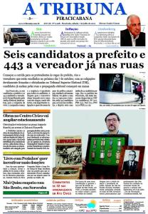 Jornal A Tribuna Piracicabana - edição n. 9.928, pg. 01, de 7 de julho de 2012 - Ano 38