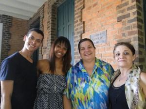 Ivan, Monike, Rosângela e Camilla Pupa