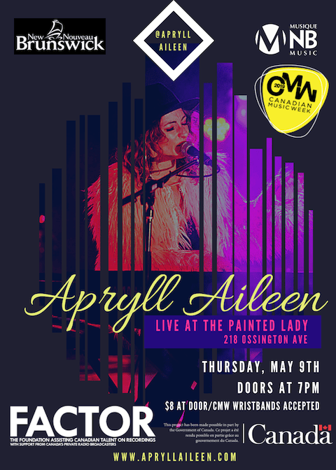 APRYLL AILEEN – THURSDAY NIGHT – TORONTO CMW SHOWCASE