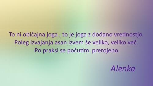 Joga priporocilo Alenka