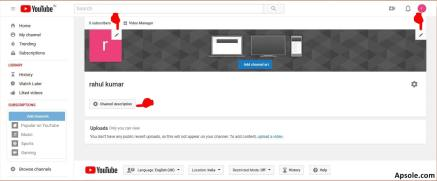 How to upload video on youtube from laptop