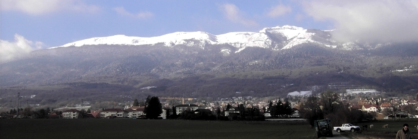 panorama de Thoiry en hiver