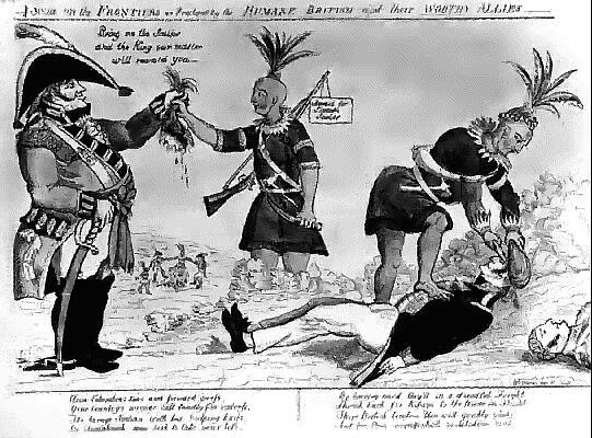 French And Indain War Cartoon