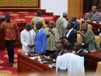 MPs wak out on swearing-in of Lydia Alhassan