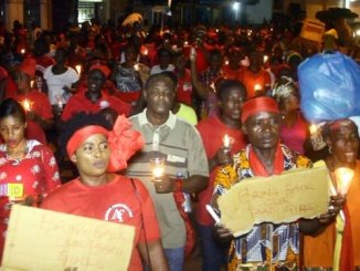 Residents of Sekondi Takoradi hold vigil for missing girls