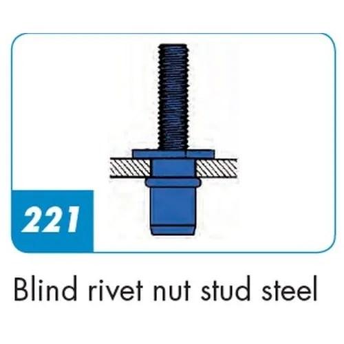 Gesipa Dome Head Blind Rivet Nut Studs Steel