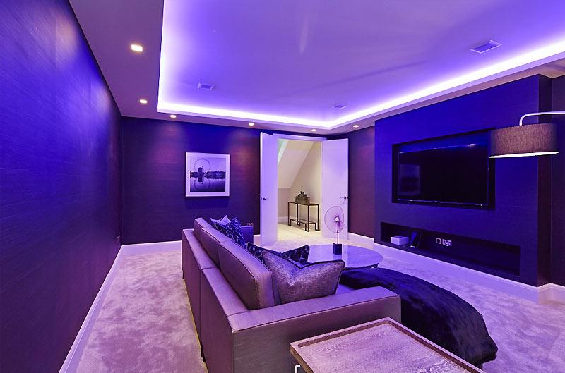 basement conversion entertainment room