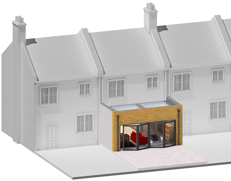 single rear house extension london