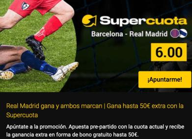 Supercuota bwin el clásico Madrid