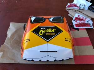 KFC Cheetos Sandwich container