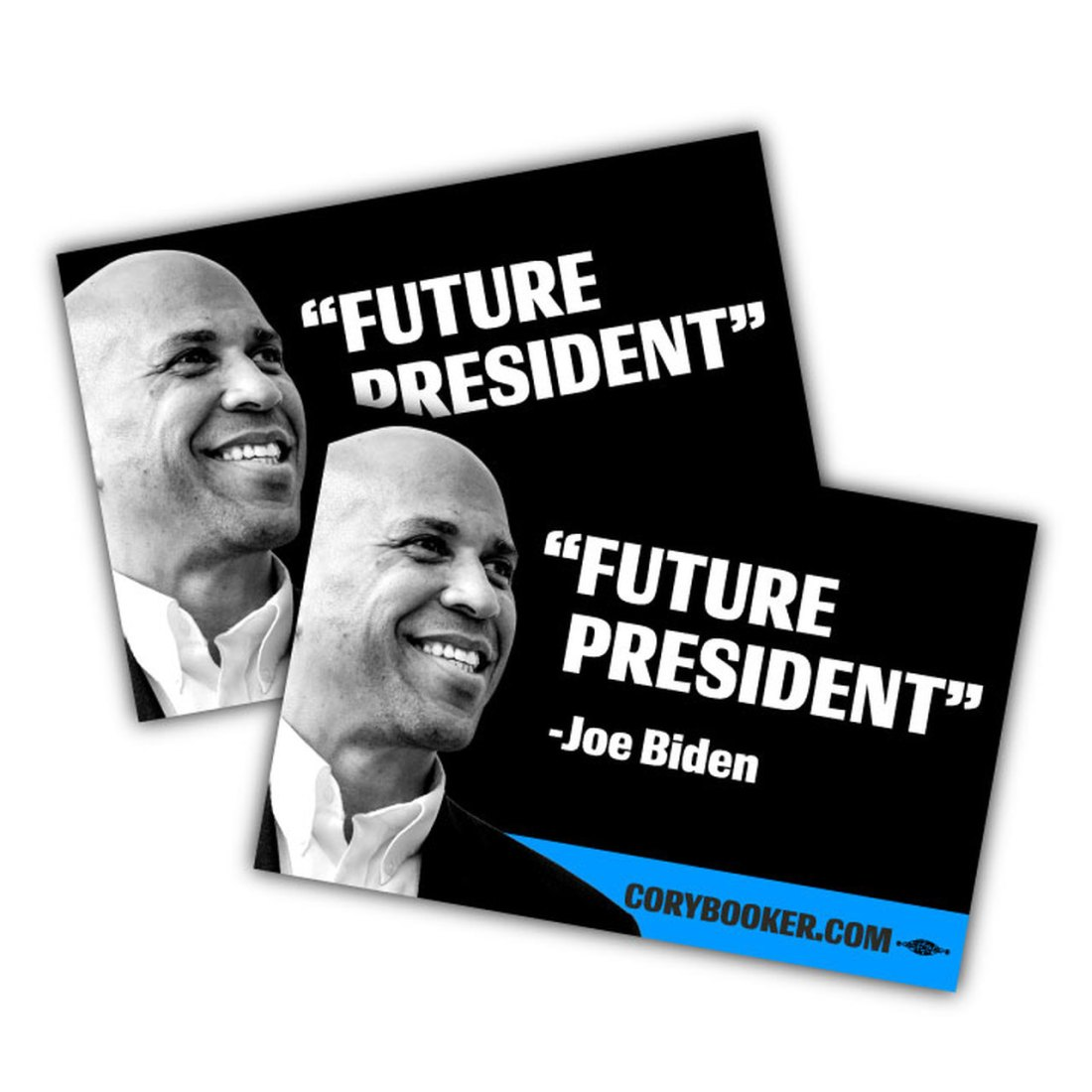"""Future President -- 6"""" x 4"""" Vinyl Sticker -- Pack of Two (corybooker.com)"""