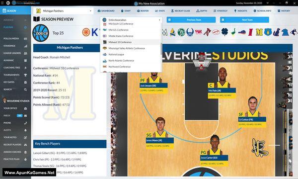Draft Day Sports: College Basketball 2020 Screenshot 2, Full Version, PC Game, Download Free
