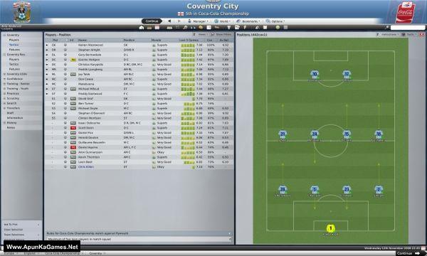 Football Manager 2009 Screenshot 1, Full Version, PC Game, Download Free