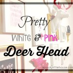 Pretty White & Pink Deerhead