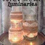 Burlap & Lace Luminaries