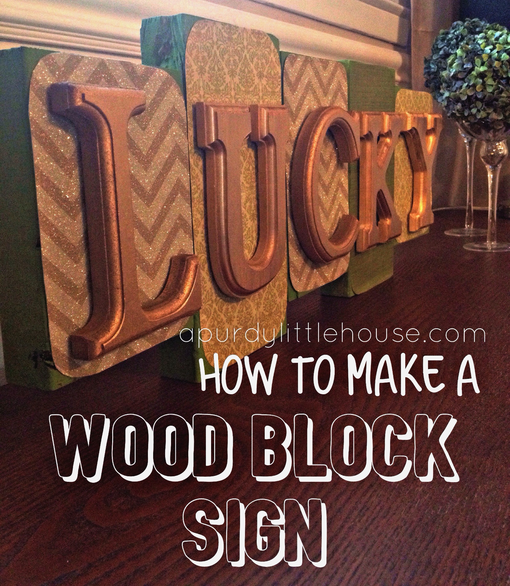 How To Make A Wood Block Sign
