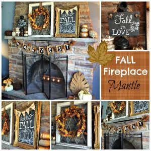 Fall Fireplace Mantel