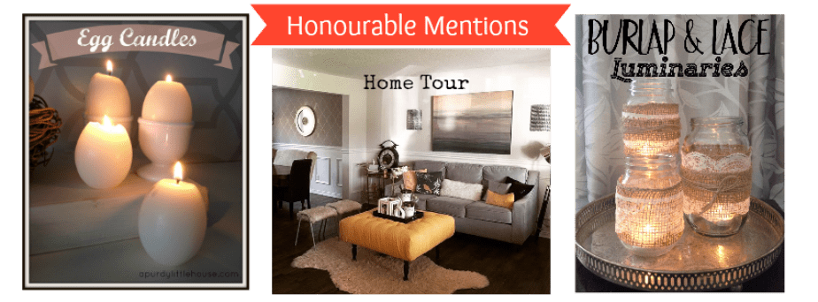 Honourable mentions / Egg Candles / Living Room / Burlap and Lace Luminaries / The Best of 2015 from the blog / Best blog posts / top rated blog posts of 2015 / Most liked and shared posts / apurdylittlehouse.com