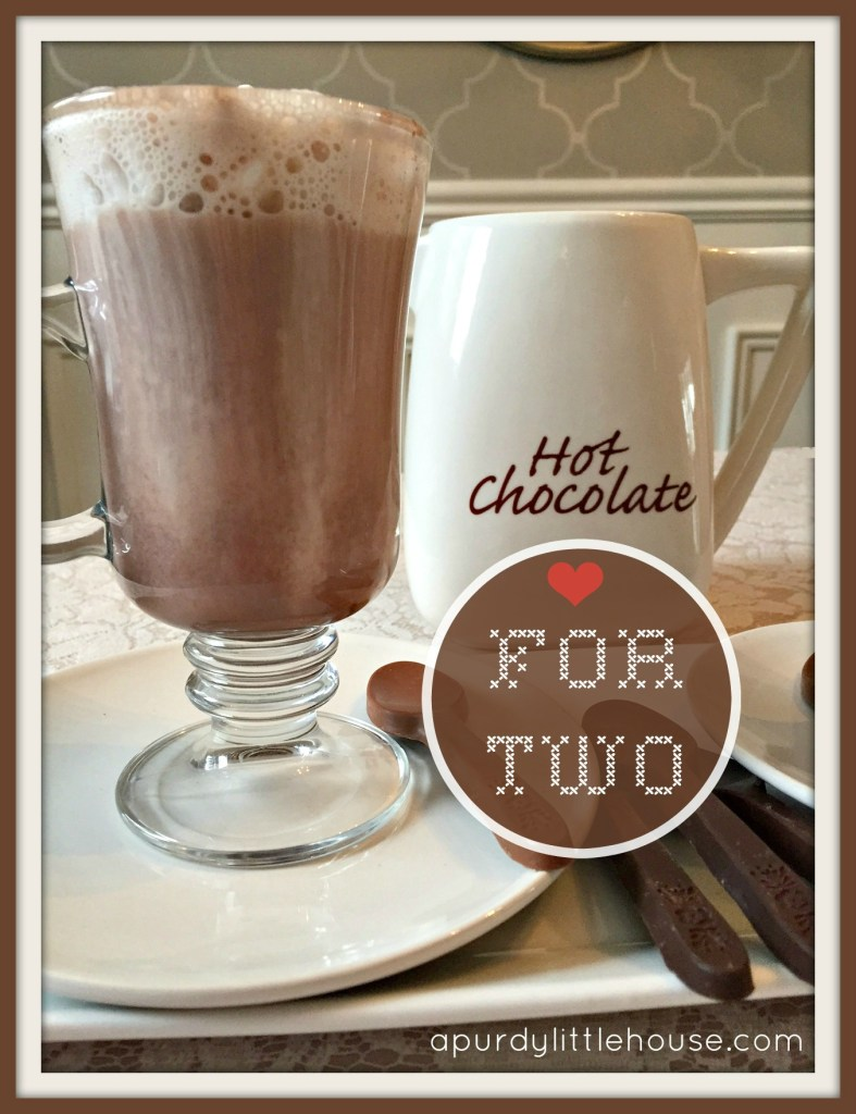 Hot Chocolate for Two / Hot Chocolate / Setting for two / Chocolate Spoons / apurdylittlehouse.com
