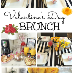 Valentine's Day Brunch / Neutral Decor for Valentine's Day / Valentine's Day Tablescape / Brunch settings / apurdylittlehouse.com
