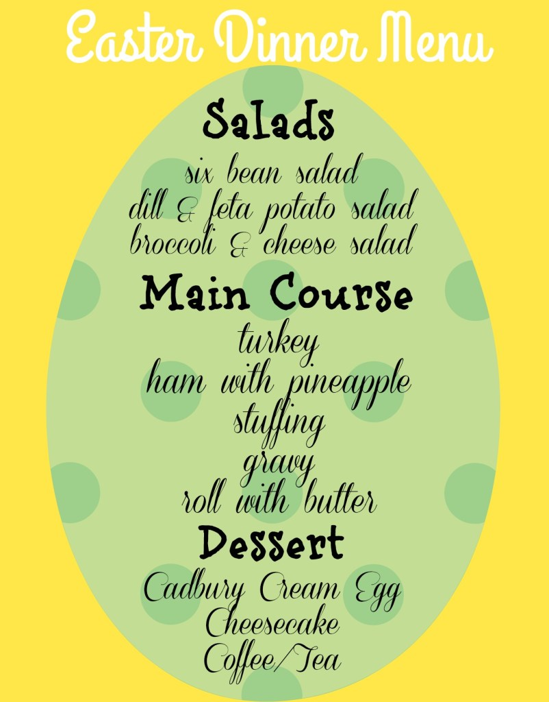 Easter Dinner Menu Easter Dinner Ideas apurdylittlehouse.com