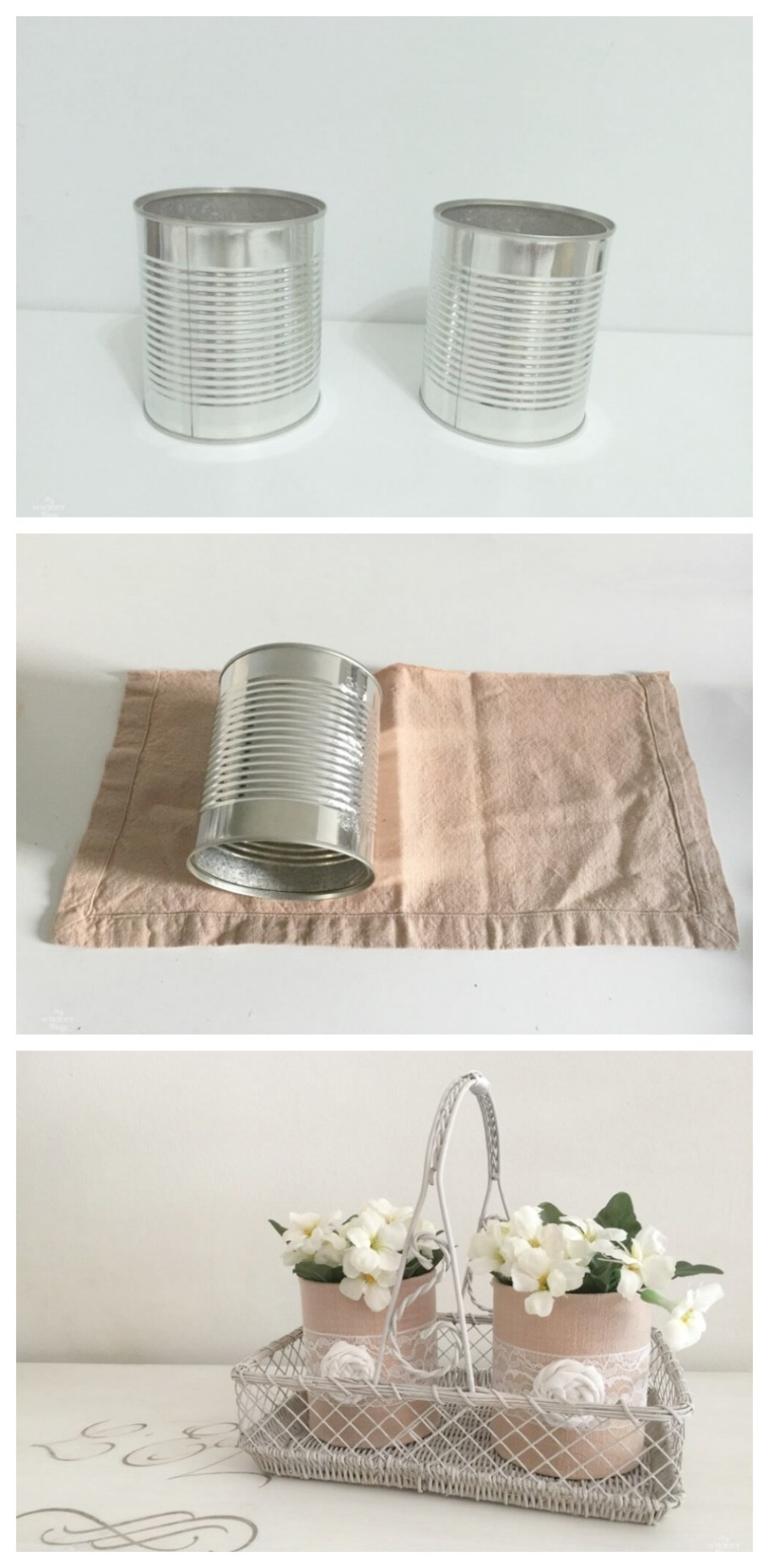 Fabric wrapped tin can basics 30dayflip