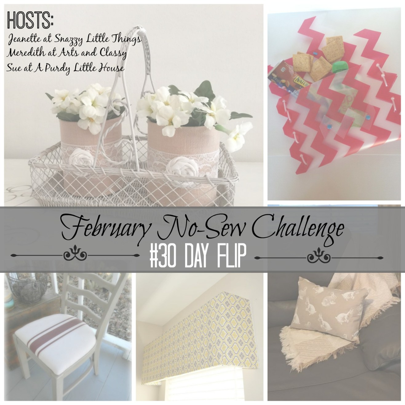 February No Sew Challenge 30 day flip