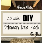 DIY Ottoman/Coffee Table – Ikea Hack