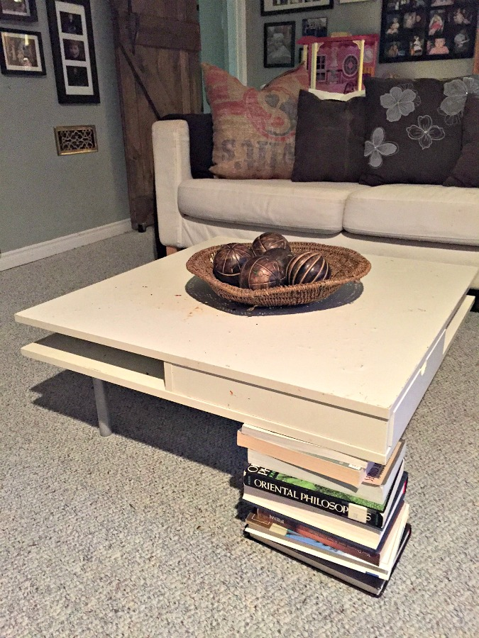 Superbe DIY Ottoman Coffee Table Ikea Hack How To Turn A Plain Old End Table Into A