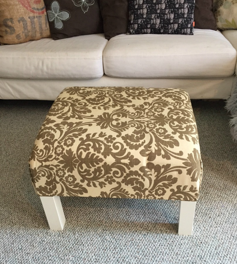 Genial DIY Ottoman Coffee Table Ikea Hack How To Turn A Plain Old End Table Into A