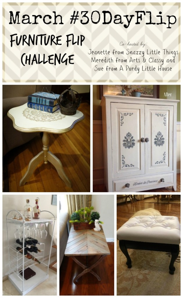 March #30dayflip Furniture Flip Challenge How to upcycle furniture March Furniture Flip Challenge - #30DayFlip Round-Up