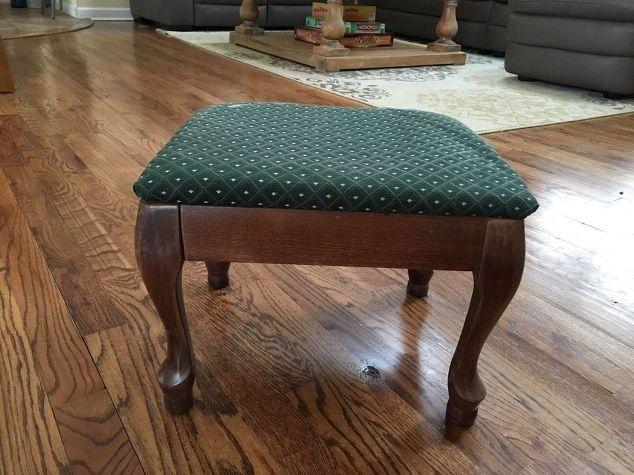 March Furniture Flip Challenge - #30DayFlip Round-Up Furniture Upcycle / Ottoman / Breathing-new-life-into-an-old-foot-stool-my-30dayflip-for-march-how-to-painted-furniture-reupholster