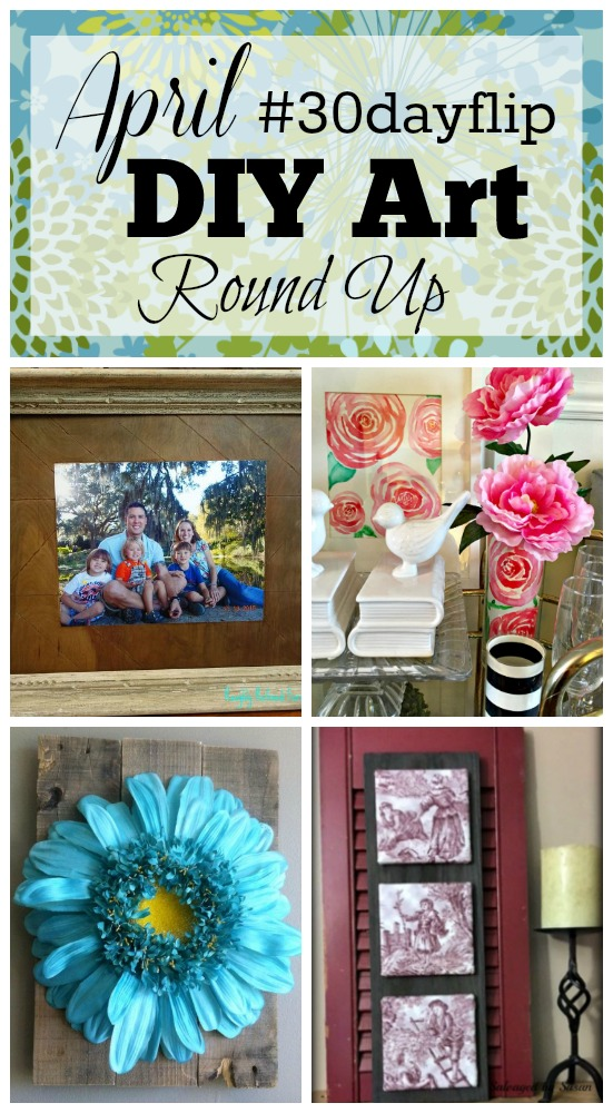April #30dayflip DIY Art Round Up apurdylittlehouse.com