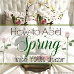 Spring Decorating Using Pillows