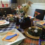 Father's Day Tablescape and decorating ideas for Father's Day at apurdylittlehouse.com