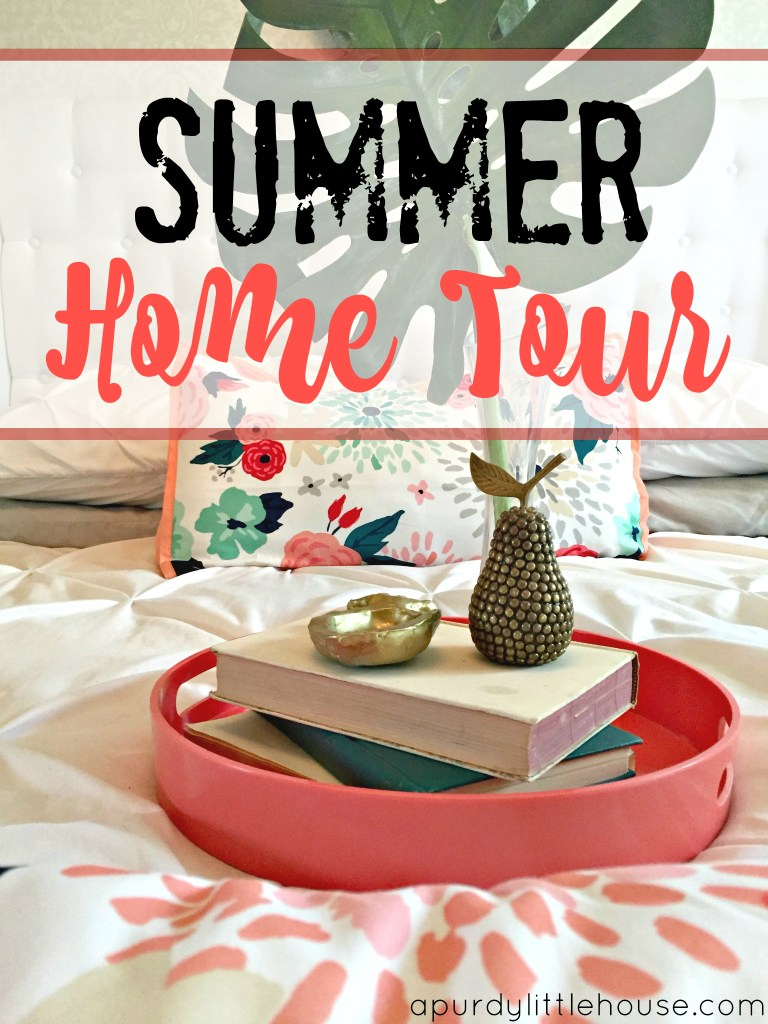Summer Home Tour. Check out tips and tricks on changing out your decor for the summer with apurdylittlehouse.com