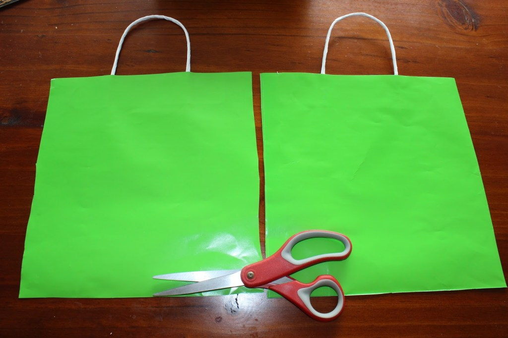 August #30day flip challenge to Make Something out of Nothing. Here, Lauren makes a party bunting using some gift bags