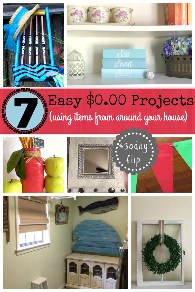 7 Easy $0 projects using items from around your house