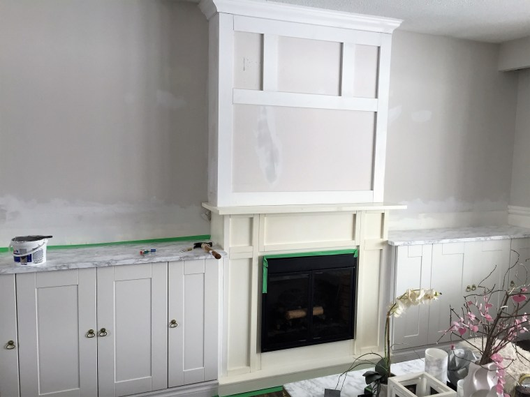 Living Room Built ins Around an Electric Fireplace - a ...