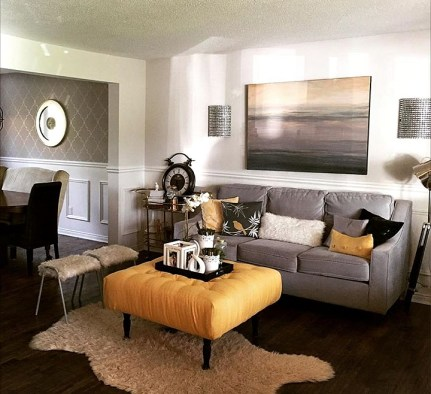 Grey Living Room Wainscoting boxes