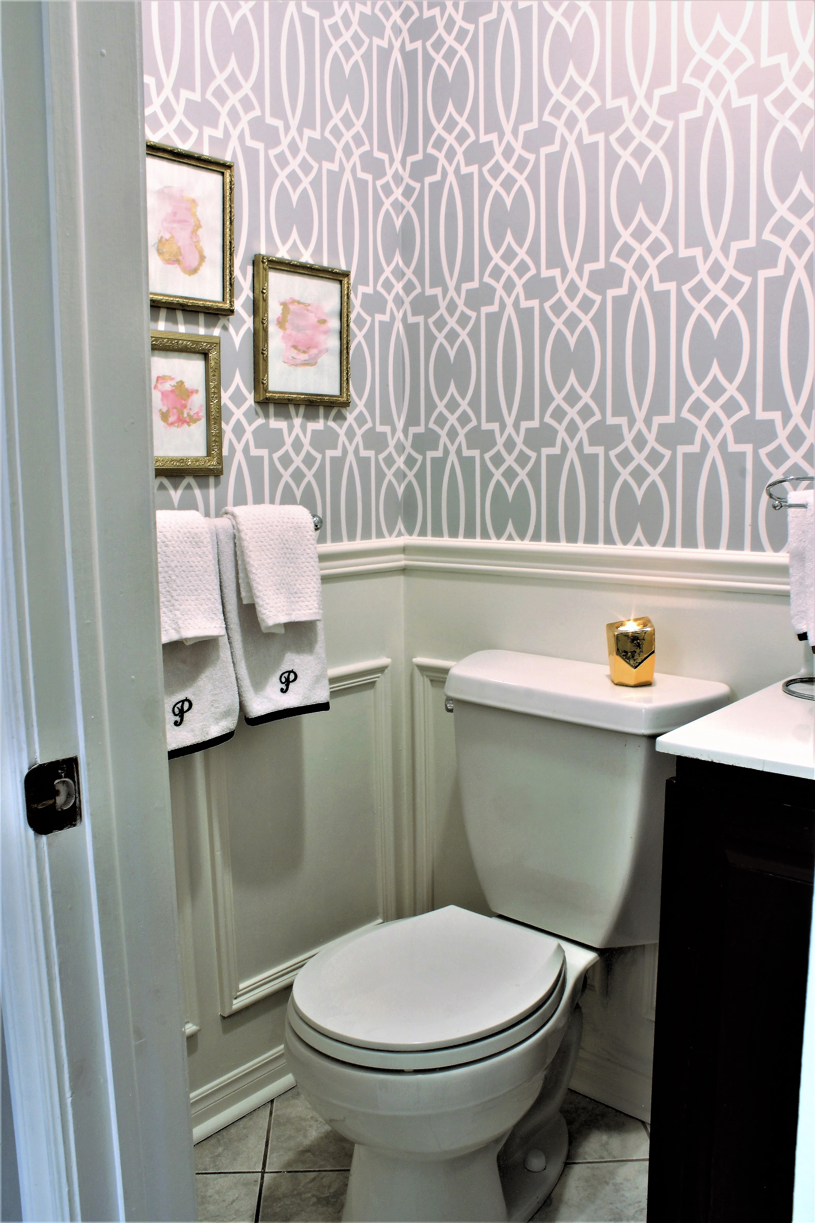 Powder Room Update Week 5 $100 Room Challenge a purdy little