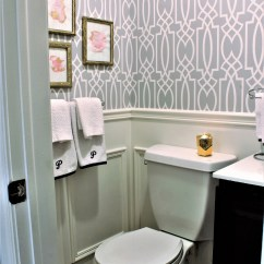 Vanity With Mirror And Chair Dining Table Accent Chairs Powder Room Update - Week 5 ($100 Challenge) A Purdy Little House