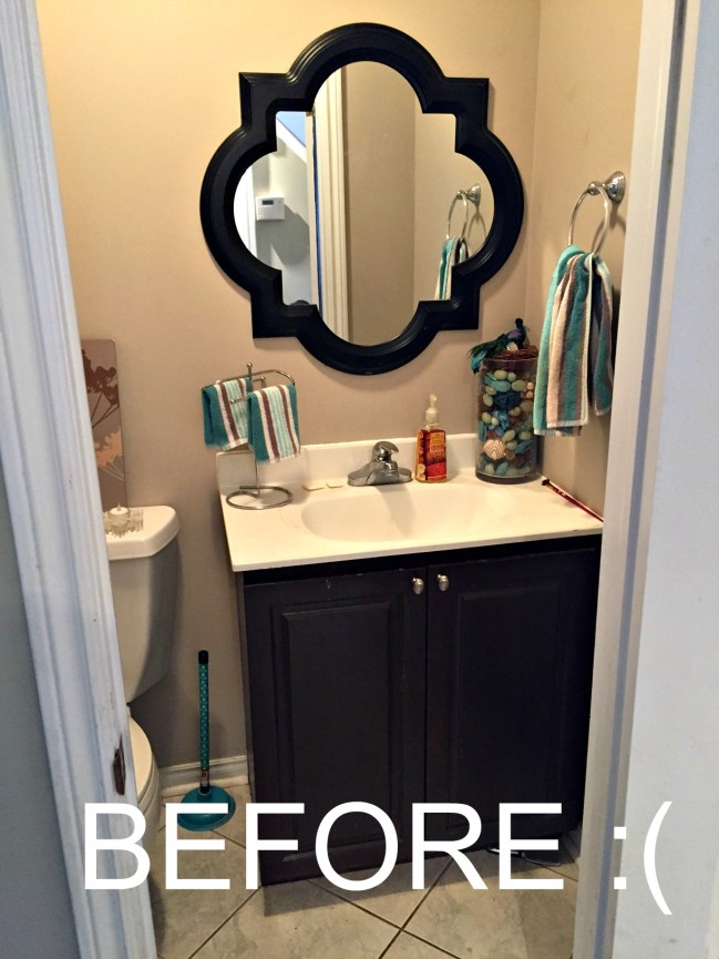 Powder Room Update Before Pic