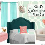 Girl's Bedroom Makeover – Preppy, Stylish & Modern