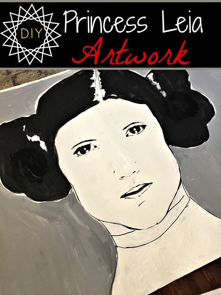 Princess Leia artwork. Star Wars artwork. Carrie Fisher as Princess Leia