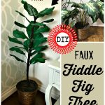 DIY Faux Fiddle Fig Tree