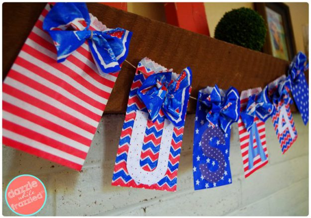 DIY USA Patriotic Banner