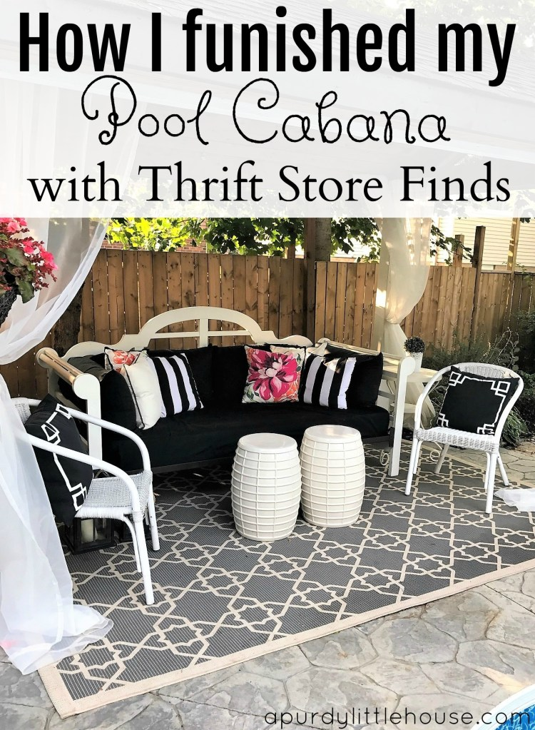 How I furnished my Pool Cabana with thrift store finds